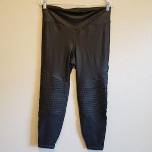 Gap Fit Leather Look Moto Style Athletic Leggings